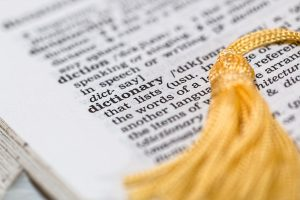 photograph of the word 'dictionary' in a dictionary