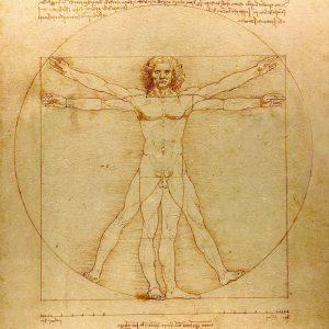 "Leonardo Da Vinci's drawing of the ""Vitruvian Man"""